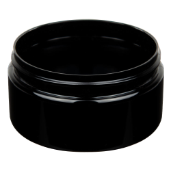 8 oz. Black PET Straight Sided Jar with 89/400 Neck (Cap Sold Separately)