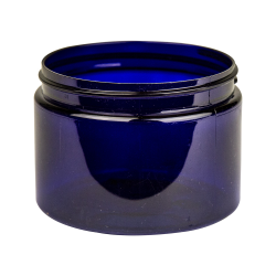 12 oz. Cobalt Blue PET Straight Sided Jar with 89/400 Neck (Cap Sold Separately)