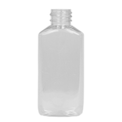 2 oz. Clear PET Drug Oblong Bottle with 20/410 Neck (Cap Sold Separately)