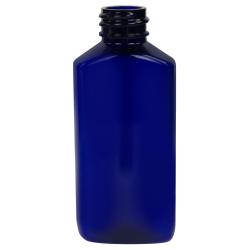 2 oz. Cobalt Blue PET Drug Oblong Bottle with 20/410 Neck  (Cap Sold Separately)