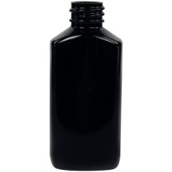 2 oz. Black PET Drug Oblong Bottle with 20/410 Neck  (Cap Sold Separately)