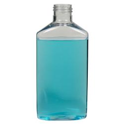 6 oz. Clear PET Drug Oblong Bottle with 24/410 Neck  (Cap Sold Separately)