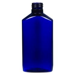 6 oz. Cobalt Blue PET Drug Oblong Bottle with 24/410 Neck  (Cap Sold Separately)