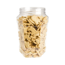 68 oz. Clear PET Hexagon Jar with 110mm Neck  (Cap Sold Separately)