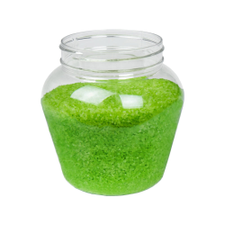 37 oz. Clear PET Apple Jar with 89mm Neck (Caps Sold Separately)