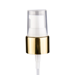 "20/410 Gold/White Smooth Treatment Pump - 4"" Dip Tube & 130mcl Output"