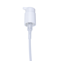 "24/410 White Lock-up Lotion Pump with 6-7/8"" Dip Tube"