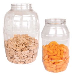 Brilliant PET Barrel Jar & Lids