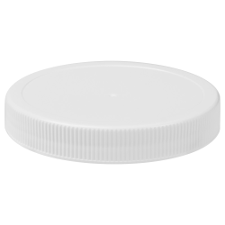 89/400 White Polypropylene Unlined Ribbed Cap