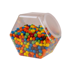 129 oz. PET Hexagon Jar with 110mm Snap-on Neck  (Lid Sold Separately)