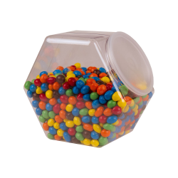 129 oz. PVC Hexagon Jar with 110mm Snap-on Neck  (Lid Sold Separately)
