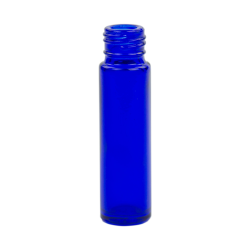 8mL Cobalt Blue Glass Cylinder Bottle (Cap & Roller Sold Separately)