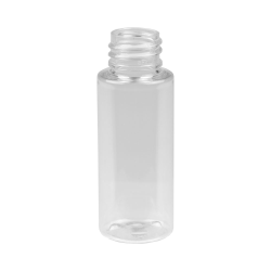 1 oz. Clear PET Cylindrical Bottle with 20/410 Neck (Cap Sold Separately)