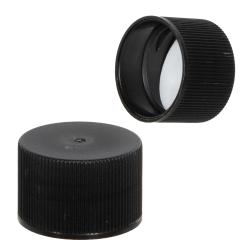 24/410 Black Polypropylene Cap with Pressure Sensitive Liner