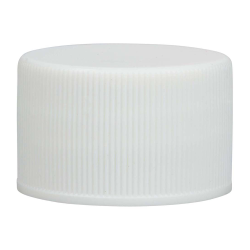 28/410 White Polypropylene Cap with Pressure Sensitive Liner