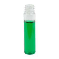 1 oz. Clear Slim PET Cylinder Bottle with 20/410 Neck  (Cap Sold Separately)