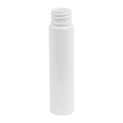 1 oz. White Slim PET Cylinder Bottle with 20/410 Neck  (Cap Sold Separately)