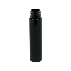 1 oz. Black Slim PET Cylinder Bottle with 20/410 Neck  (Cap Sold Separately)