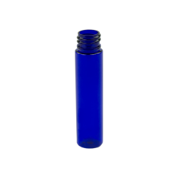 1 oz. Cobalt Blue Slim PET Cylinder Bottle with 20/410 Neck (Cap Sold Separately)