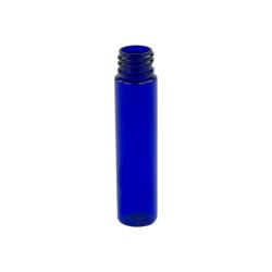 1 oz. Cobalt Blue Slim PET Cylinder Bottle with 20/410 Neck (Cap Sold Separately)