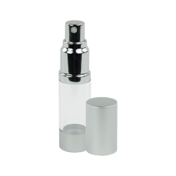 30mL Clear/Brushed Aluminum Airless Spray Bottle