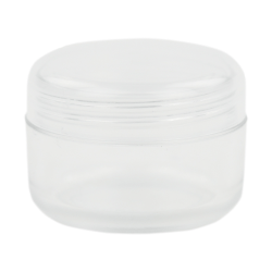 6mL PET Clear Round Jar with Natural Lid