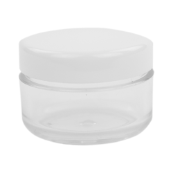 6mL PET Clear Round Jar with White Lid