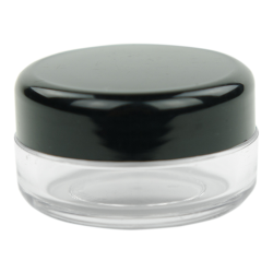 10mL PET Clear Round Jar with Black Lid