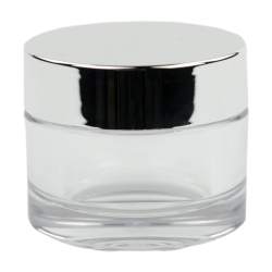 30mL Clear PETG Jar with Silver Cap & Liner