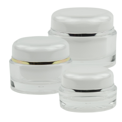 Acrylic Round Jars with Lined Caps