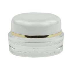 15mL Clear/Gold Acrylic Jar with Lined Cap