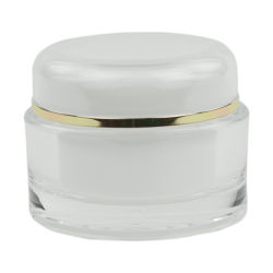 50mL Clear/Gold Acrylic Jar with Lined Cap