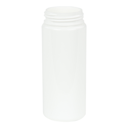 50mL White PET Foamer Style Cylinder Bottle with 30/400 Neck (Pump Sold Separately)