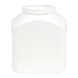 White Rectangular Jar
