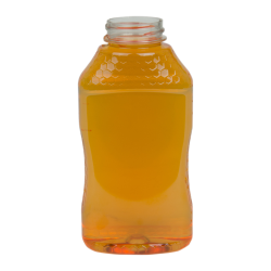 16 oz. PET Hourglass Grip Bottle with 38/400 Neck (Caps sold separately)