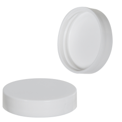 48/400 White Polypropylene Smooth Unlined Cap