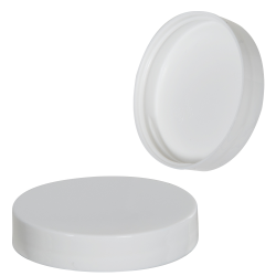 58/400 White Polypropylene Smooth Unlined Cap