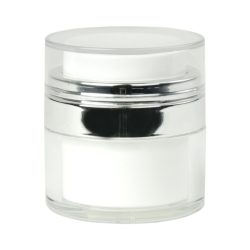 15mL White Acrylic Airless Jar & Cap