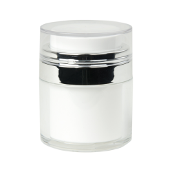 30mL White Acrylic Airless Jar & Cap