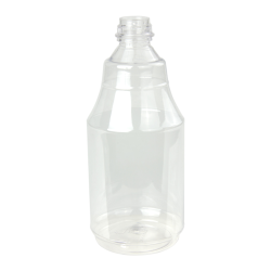 24 oz. Clear PET Flairosol Spray Bottle (Sprayer & Cap Sold Separately)