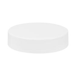 70/400 White Polypropylene Half Tall Unlined Cap