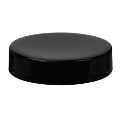 70/400 Black Polypropylene Half Tall Unlined Cap