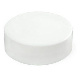 70/400 White Polypropylene Extra Tall Unlined Cap