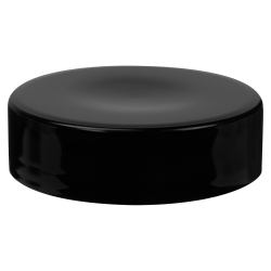 89/400 Black Polypropylene Extra Tall Unlined Cap