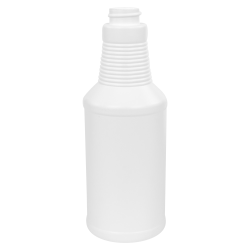 16 oz. White HDPE Decanter Spray Bottle with 28/400 Neck (Sprayers or Caps Sold Separately)