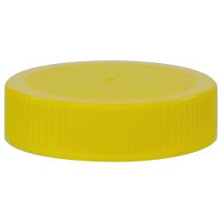 63/400 Yellow Polyethylene Unlined Ribbed Cap