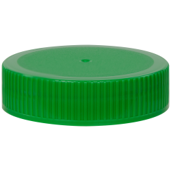 63/400 Green Polypropylene Unlined Ribbed Cap