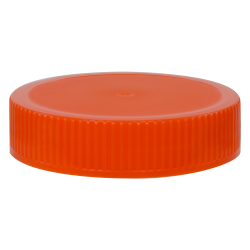 70/400 Orange Polypropylene Unlined Ribbed Cap