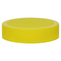 70/400 Yellow Polypropylene Unlined Ribbed Cap