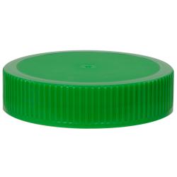 70/400 Green Polyethylene Unlined Ribbed Cap